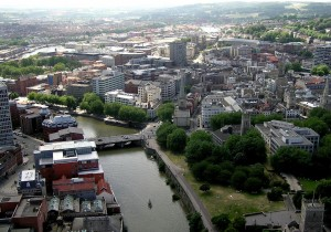 Arial View Of Bristol