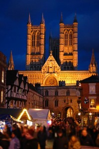 Lincoln Cathedral overlooking Castle Square